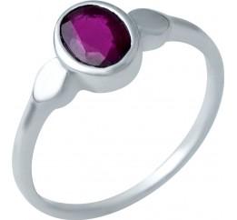 Серебряное кольцо SilverBreeze с натуральным рубином (1935767) 17 размер