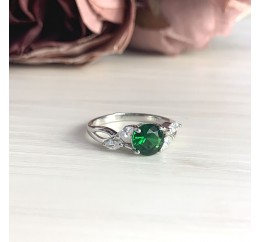 Серебряное кольцо SilverBreeze с изумрудом nano (2018049) 17 размер