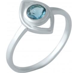 Серебряное кольцо SilverBreeze с натуральным топазом Лондон Блю (1959435) 18 размер