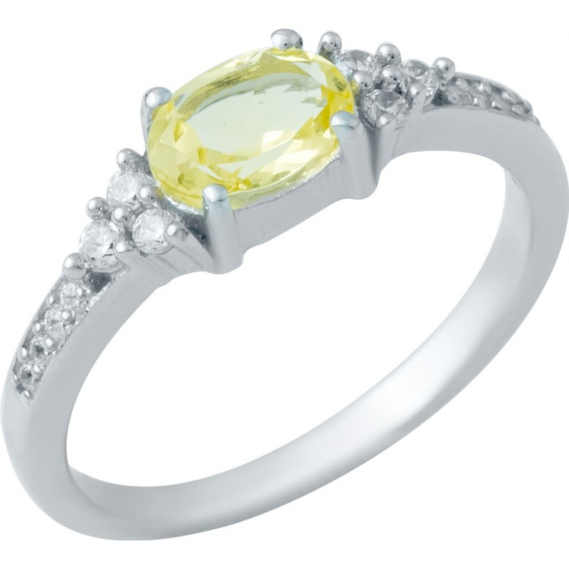 Серебряное кольцо SilverBreeze с цитрином nano (1949825) 17.5 размер