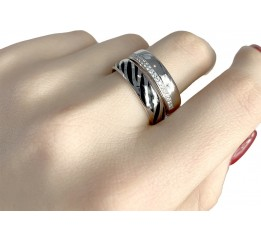 Серебряное кольцо SilverBreeze с фианитами (1982396) 15.5 размер