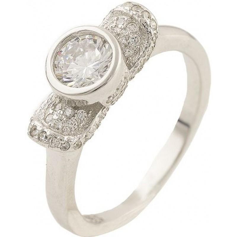 Серебряное кольцо SilverBreeze с фианитами (0534435) 18 размер