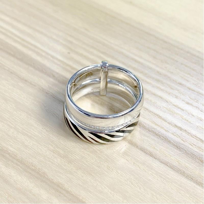 Серебряное кольцо SilverBreeze с фианитами (1982396) 16 размер