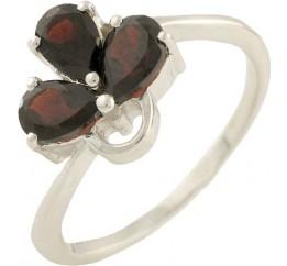 Серебряное кольцо SilverBreeze с натуральным гранатом (0562933) 18 размер