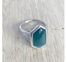 Серебряное кольцо SilverBreeze с кошачим глазом (1927588) 18.5 размер