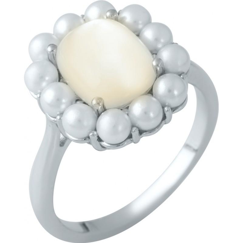 Серебряное кольцо SilverBreeze с натуральным перламутром,  (1980361) 18.5 размер