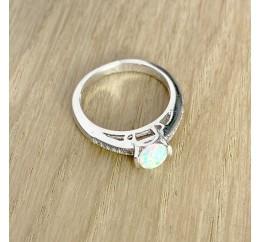 Серебряное кольцо SilverBreeze с опалом (1159644) 17 размер