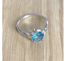 Серебряное кольцо SilverBreeze с аквамарином nano (1960875) 18 размер