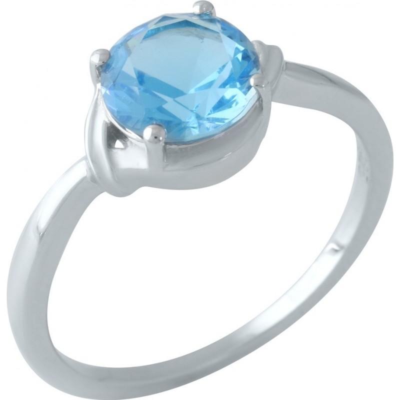 Серебряное кольцо SilverBreeze с аквамарином nano (1960875) 17 размер