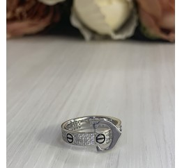 Серебряное кольцо SilverBreeze с фианитами (2001669) 17.5 размер