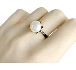 Серебряное кольцо SilverBreeze с натуральным жемчугом (1956984) 18 размер