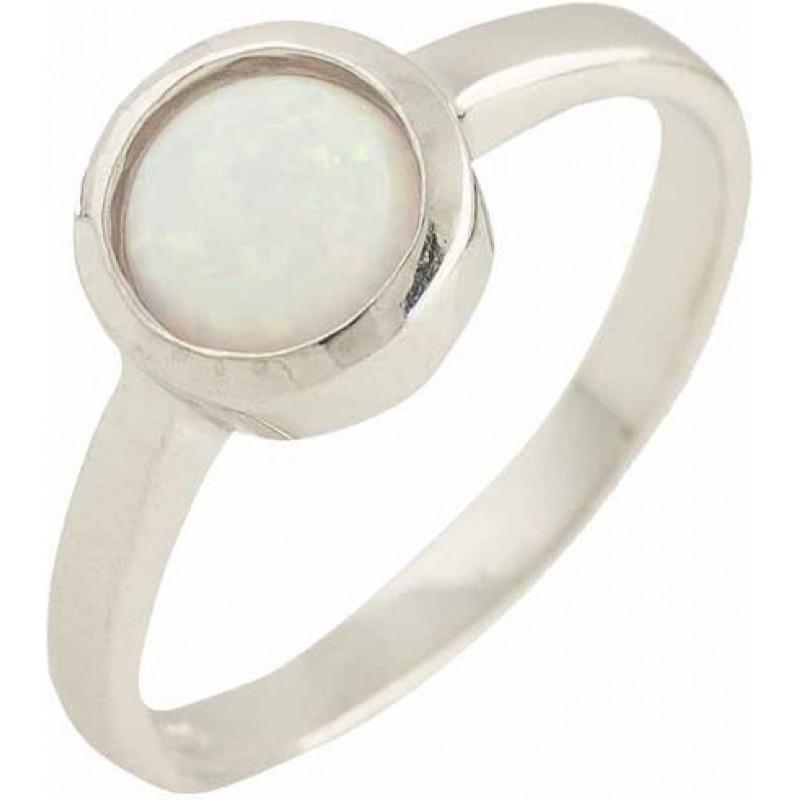Серебряное кольцо SilverBreeze с опалом (1189450) 16.5 размер
