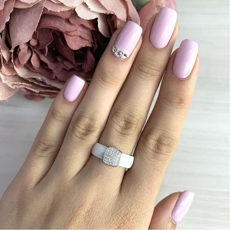 Серебряное кольцо SilverBreeze с керамикой (1579343) 16 размер