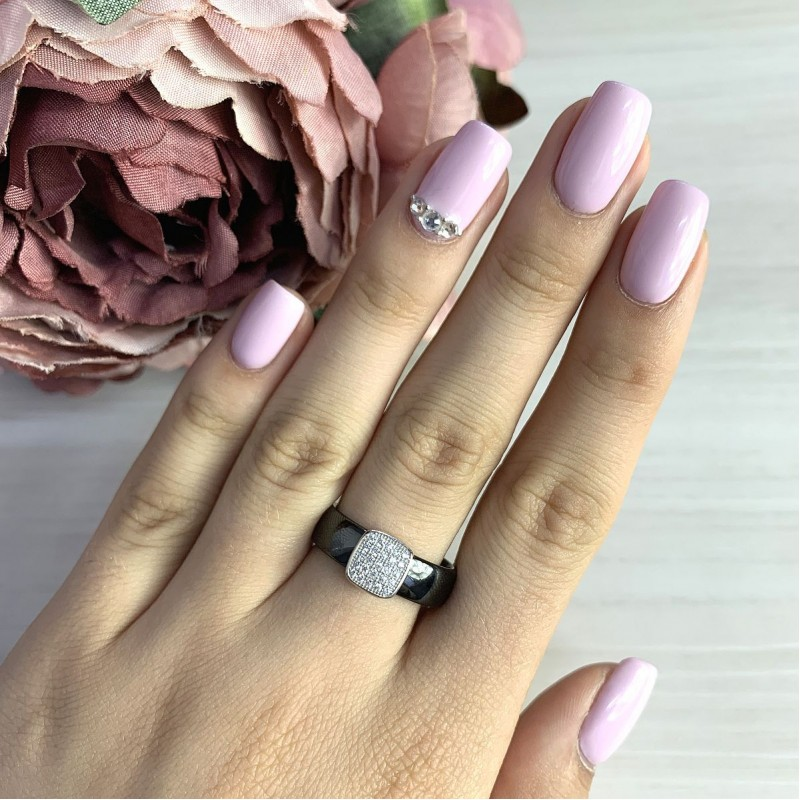 Серебряное кольцо SilverBreeze с керамикой (1579350) 18 размер