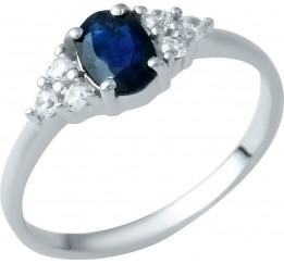 Серебряное кольцо SilverBreeze с натуральным сапфиром (1938263) 16.5 размер
