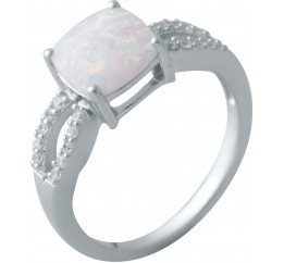 Серебряное кольцо SilverBreeze с опалом (2018193) 17 размер