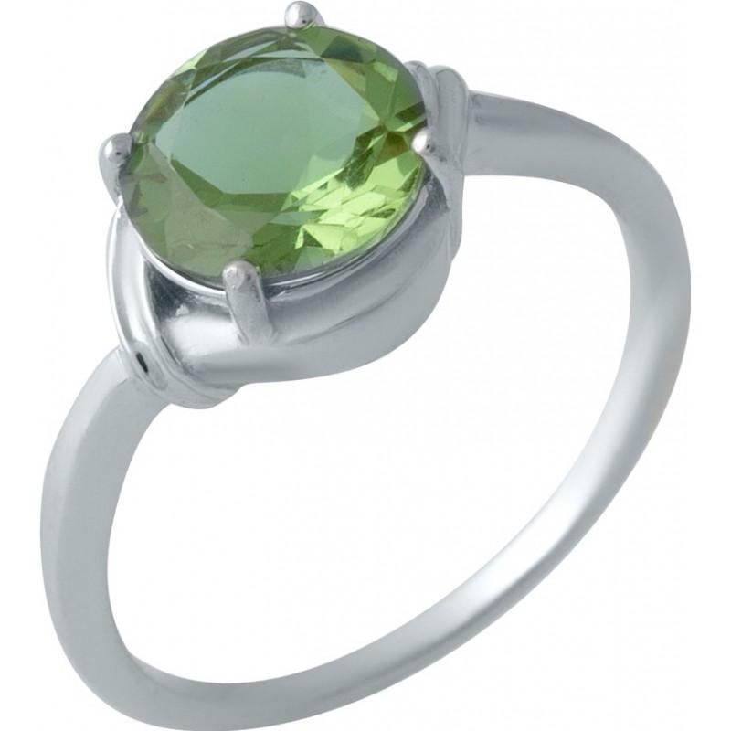 Серебряное кольцо SilverBreeze с Султанит султанитом (1983492) 18.5 размер