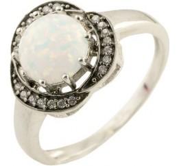 Серебряное кольцо SilverBreeze с опалом (1203637) 17 размер