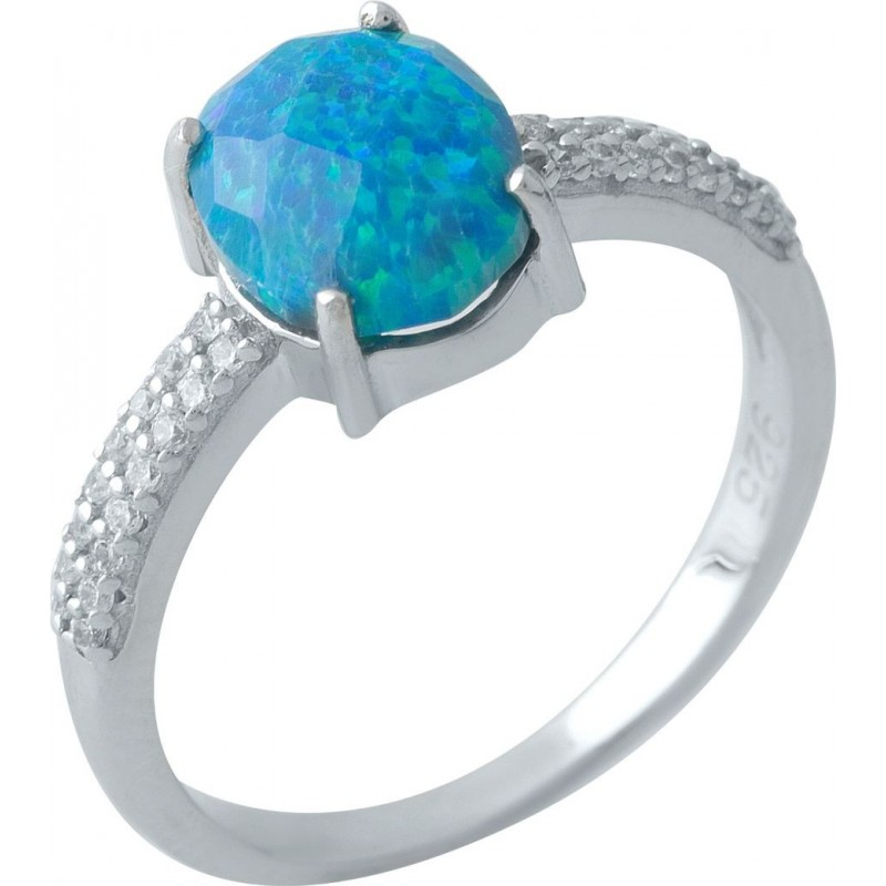 Серебряное кольцо SilverBreeze с опалом (1970188) 18 размер