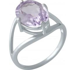 Серебряное кольцо SilverBreeze с натуральным аметистом (1996843) 18 размер