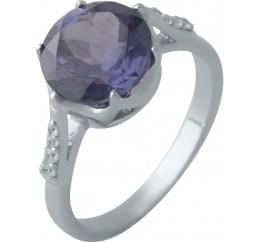 Серебряное кольцо SilverBreeze с олександритом (2002338) 17.5 размер