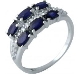 Серебряное кольцо SilverBreeze с натуральным сапфиром (1961643) 18 размер