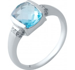 Серебряное кольцо SilverBreeze с аквамарином nano (2016533) 18.5 размер