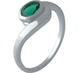 Серебряное кольцо SilverBreeze с изумрудом nano (2012771) 18 размер