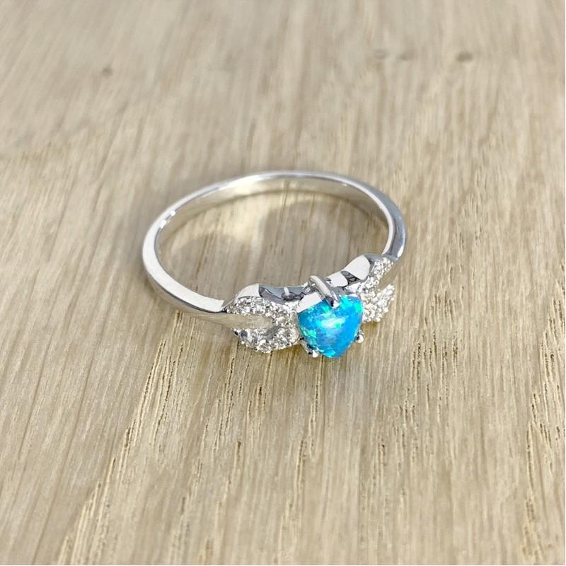Серебряное кольцо SilverBreeze с опалом (1970324) 18 размер