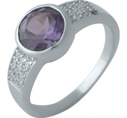 Серебряное кольцо SilverBreeze с олександритом (2002420) 18.5 размер