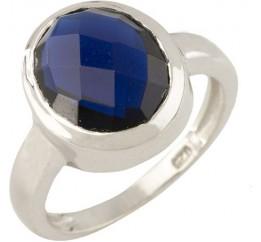 Серебряное кольцо SilverBreeze с сапфиром nano (0713045) 18.5 размер