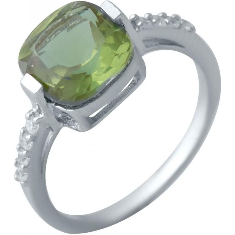 Серебряное кольцо SilverBreeze с Султанит султанитом (2020080) 17.5 размер