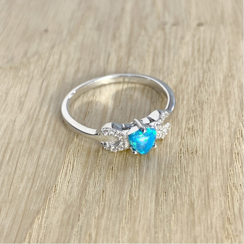Серебряное кольцо SilverBreeze с опалом (1970324) 17 размер