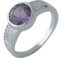 Серебряное кольцо SilverBreeze с олександритом (2002420) 17 размер