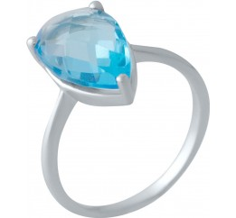 Серебряное кольцо SilverBreeze с аквамарином nano (2016564) 17.5 размер