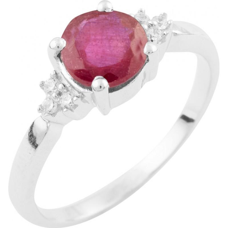 Серебряное кольцо SilverBreeze с натуральным рубином (1634517) 17 размер