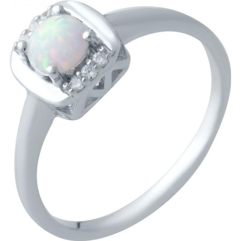 Серебряное кольцо SilverBreeze с опалом (2018315) 17.5 размер