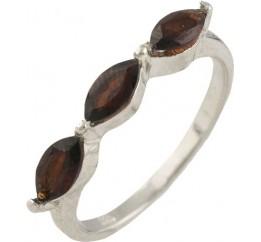 Серебряное кольцо SilverBreeze с натуральным гранатом (1228036) 17 размер