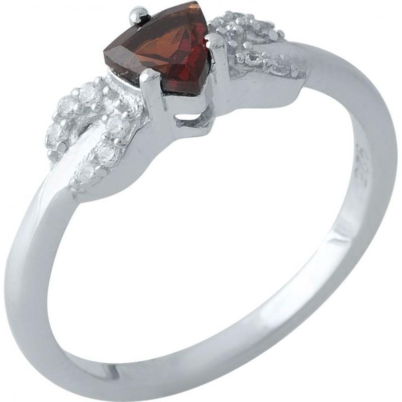 Серебряное кольцо SilverBreeze с натуральным гранатом (1970362) 18.5 размер