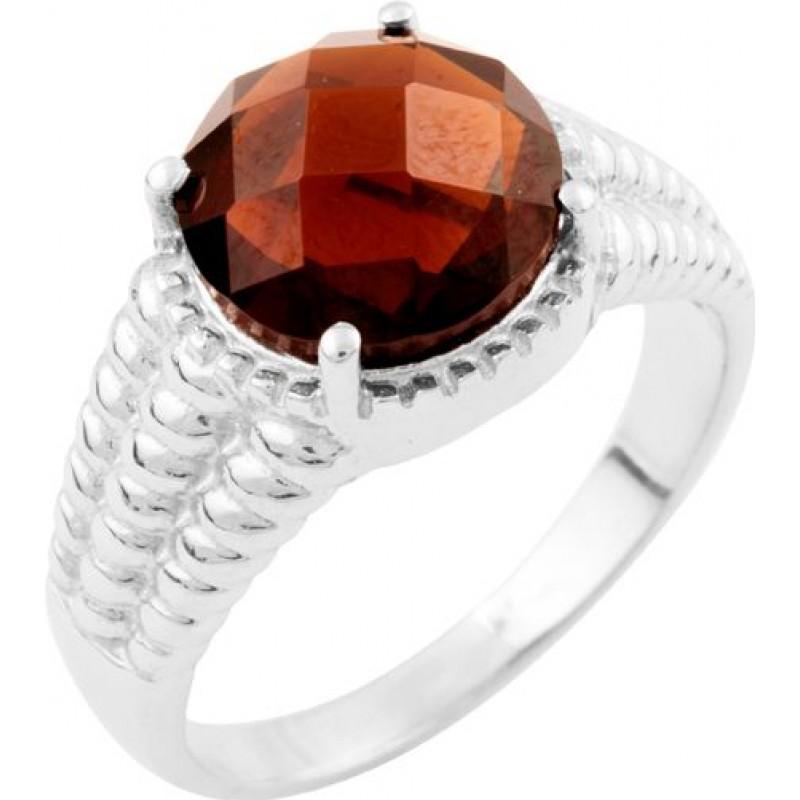 Серебряное кольцо SilverBreeze с натуральным гранатом (1634721) 19 размер