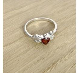 Серебряное кольцо SilverBreeze с натуральным гранатом (1970362) 17 размер