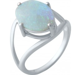 Серебряное кольцо SilverBreeze с опалом (2018339) 18 размер