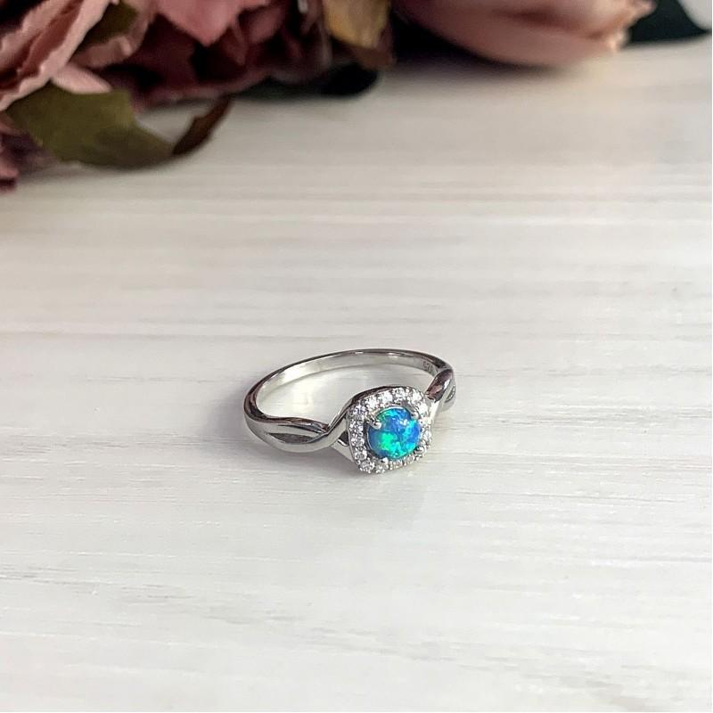 Серебряное кольцо SilverBreeze с опалом (1970409) 18 размер