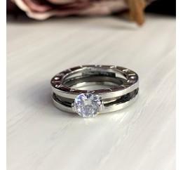 Серебряное кольцо SilverBreeze с фианитами (2000013) 17 размер