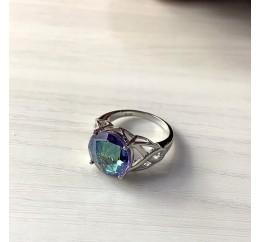 Серебряное кольцо SilverBreeze с натуральным мистик топазом (2005186) 18.5 размер