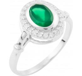 Серебряное кольцо SilverBreeze с натуральным агатом (1643501) 18 размер