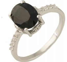 Серебряное кольцо SilverBreeze с натуральным сапфиром (1236697) 17.5 размер