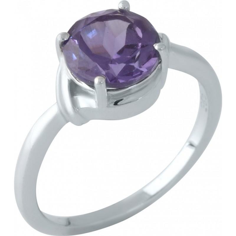 Серебряное кольцо SilverBreeze с олександритом (1962145) 17 размер
