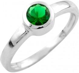 Серебряное кольцо SilverBreeze с изумрудом nano (0917696) 17.5 размер