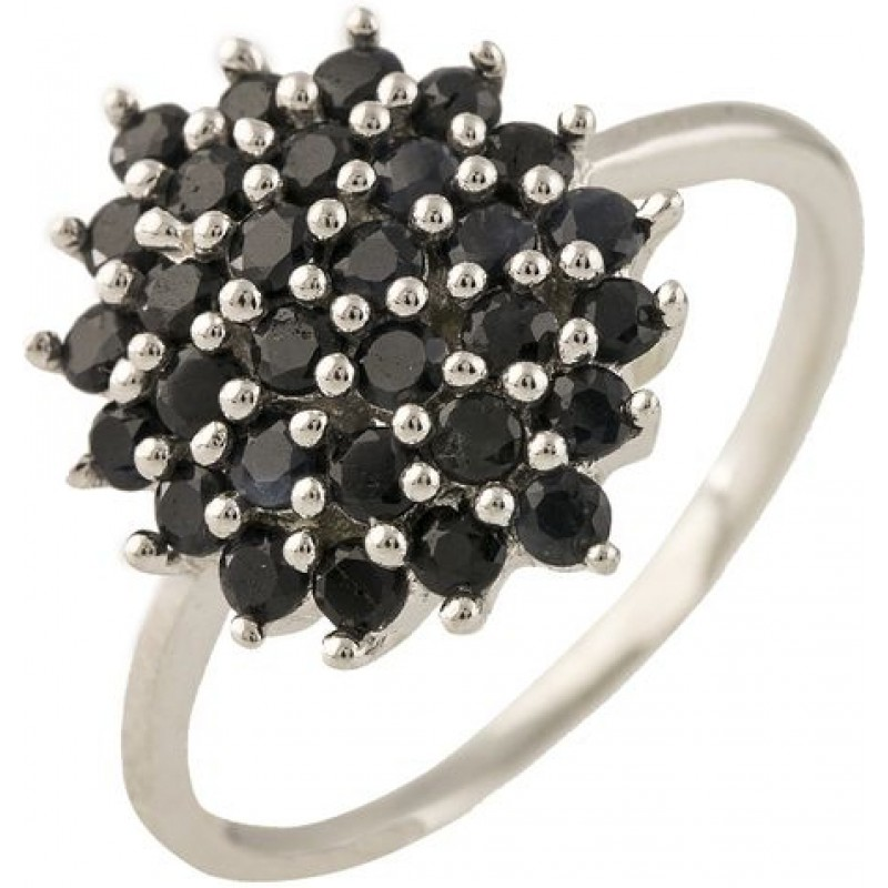 Серебряное кольцо SilverBreeze с натуральным сапфиром (1239216) 18 размер